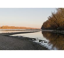 Danube Landscape at Sunset Photographic Print