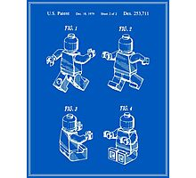 Lego Man Patent - Blueprint (v3) Photographic Print