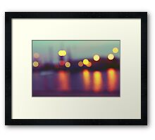 Harbour Lights Framed Print