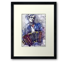 Jazz.Bandoneone player 02 Framed Print
