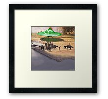 The 14,338 BC Mehrgarh UFO Landing Framed Print