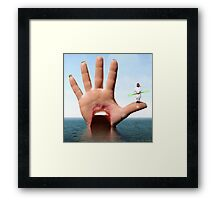 I am ready to resist the dOveside Outerspace Hand Framed Print
