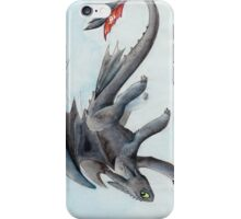 HTTYD Toothless Watercolour iPhone Case/Skin