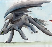 HTTYD Toothless Watercolour by Shimmi