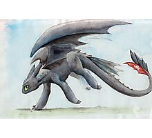 HTTYD Toothless Watercolour Photographic Print
