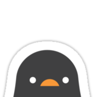 Penguin's First Snow Sticker
