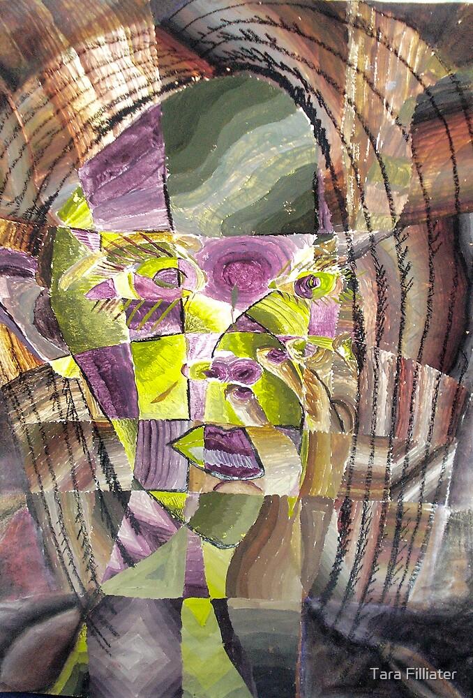 Cubism Self Portrait by Tara Filliater
