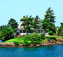 "The Little White House on ""1000 Islands"" by SueAnne"