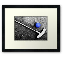 blue golf ball Framed Print