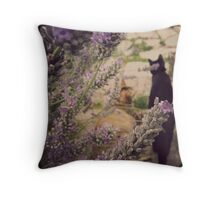 { lavender cats  } Throw Pillow