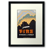 Fire Wrecks a Forest Framed Print