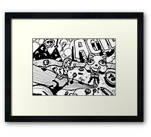 The Psychedelic Journey to the Funky Cat Castle Framed Print