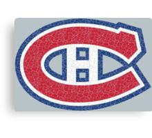 Habs (distressed) Canvas Print