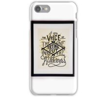 I AM THE VOICE iPhone Case/Skin
