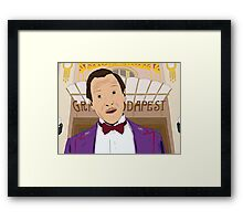 M. Gustave - The Grand Budapest Hotel, Wes Anderson Framed Print