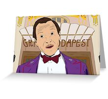 M. Gustave - The Grand Budapest Hotel, Wes Anderson Greeting Card