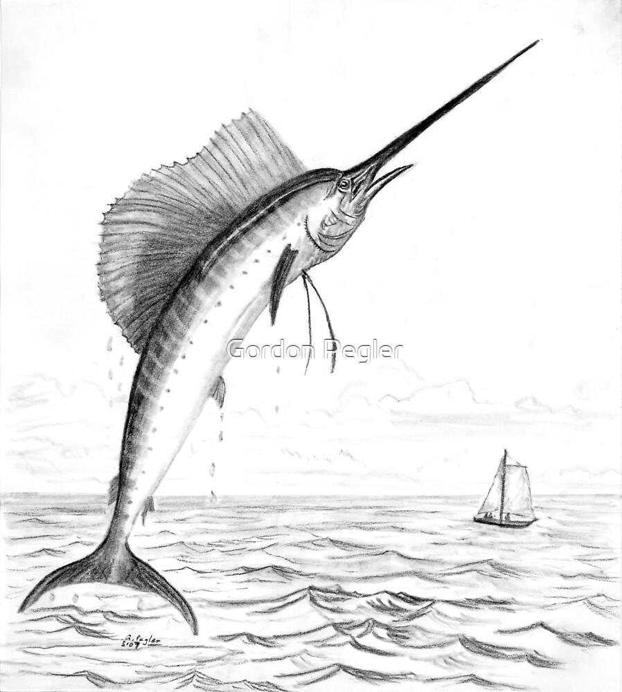 Sailfish - Charcoal   by Gordon Pegler