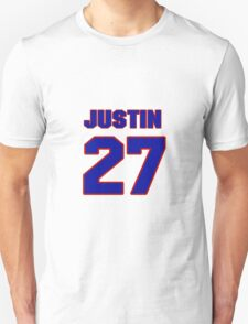 National Hockey player Justin Faulk jersey 27 T-Shirt