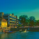 Summer Evening at the Mill, Cambridge by Priscilla Turner