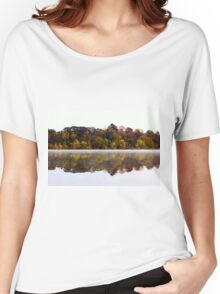 Fall and Fog on Springfield Lake Women's Relaxed Fit T-Shirt