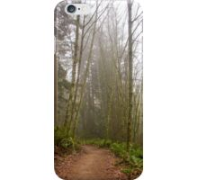 Trail Through a Misty Forest iPhone Case/Skin
