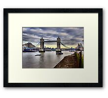 Tower Bridge HDR Framed Print