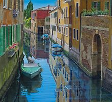 Quiet spot, Venice by Freda Surgenor