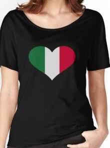 Mexico flag heart Women's Relaxed Fit T-Shirt