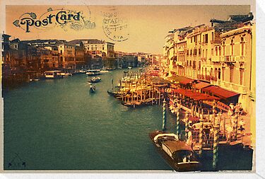 Postcard from Venice by Alf Caruana