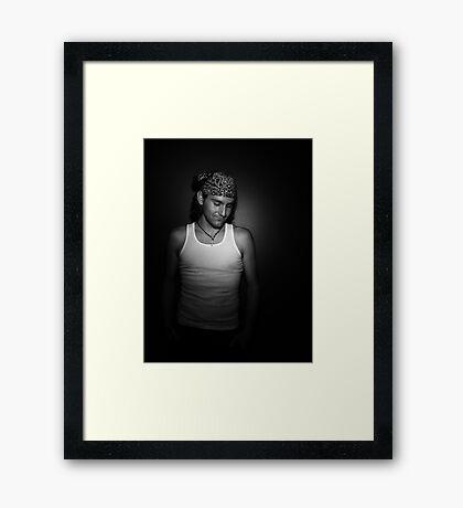 Smile. Framed Print