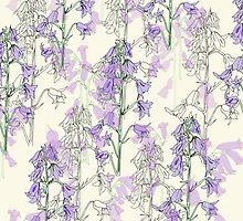 wild purple flowers by hollievictoriat