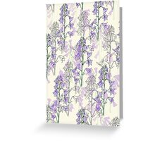 wild purple flowers Greeting Card