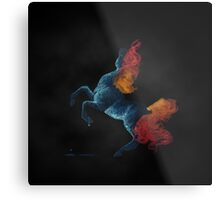 Self Destruction: Rearing Fire and Ice Horse Inverted Painting Metal Print