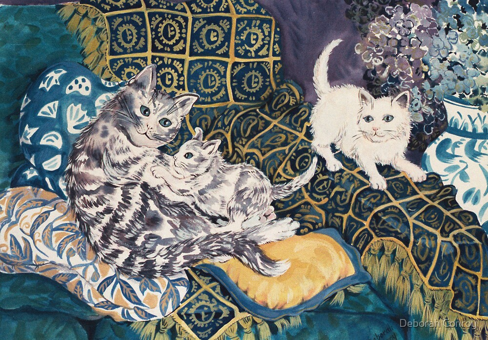 Cats Playing by Deborah Conroy
