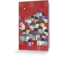 Red village Greeting Card
