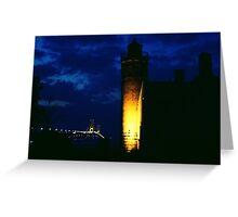 Mackinac Lighthouse and the Mackinac Bridge, -Michigan Greeting Card