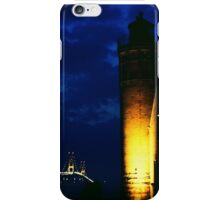 Mackinac Lighthouse and the Mackinac Bridge, -Michigan iPhone Case/Skin