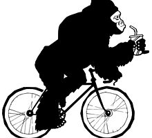 Silverback Gorilla on a Bike by grosvenordesign