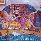 Young Woman Asleep by Deborah Conroy