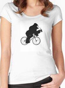 Silverback Gorilla on a Bike Women's Fitted Scoop T-Shirt