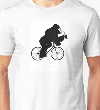 Silverback Gorilla on a Bike Unisex T-Shirt