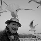 Old man and a seagull, Paris by yoshiaki nagashima