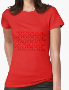 Ribbon Repeating Womens Fitted T-Shirt