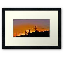Bendigo sunset Framed Print