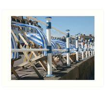 The deck chairs Art Print