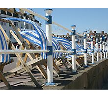 The deck chairs Photographic Print