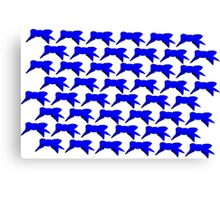 Blue Ribbon Repeating Canvas Print