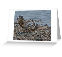 Fight on the Beach Greeting Card
