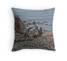 Fight on the Beach Throw Pillow