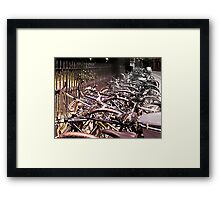 'cycle mania in Oxford. Framed Print